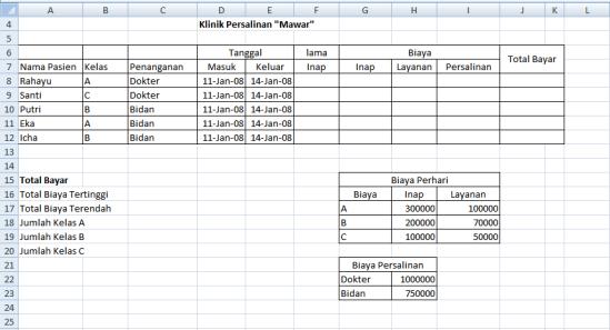 Latihan Soal Excel Dengan Fungsi Logika Vlookup Dan If Notesanom